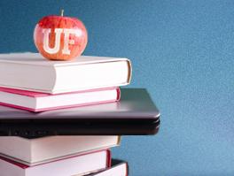UF apple on books--for Employee Education Program