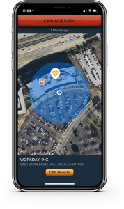phone with pulsepoint app and alert