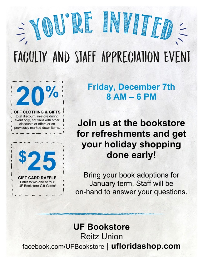 uf bookstore employee sale flyer