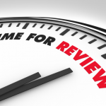 clock with time for review text