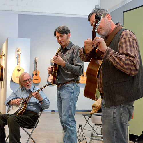 gainesville bluegrass band boilin' oil plays at university gallery