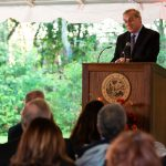 president fuchs addresses honorees and guests