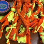 orange and yellow dog rope toys