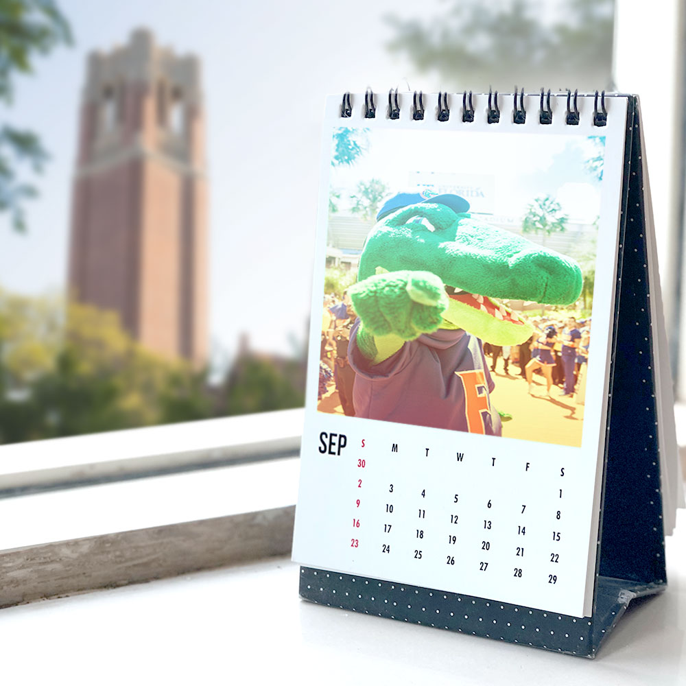calendar with albert the gator on it