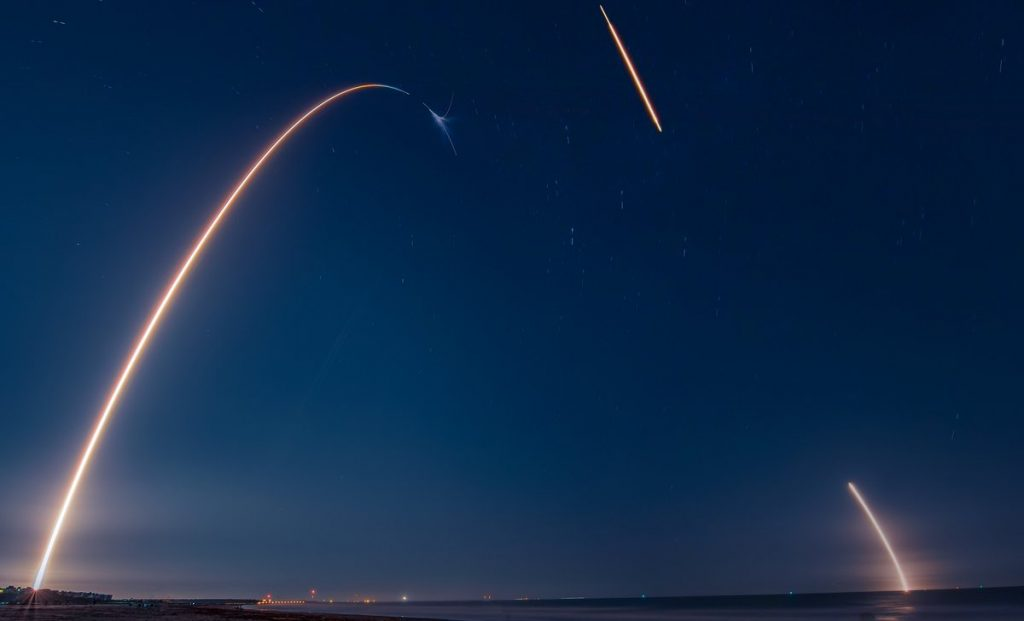 photo of space launch