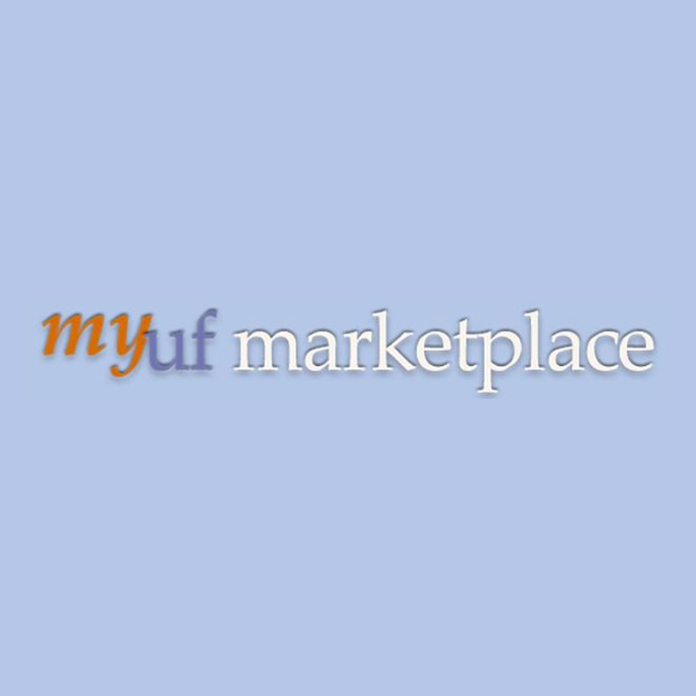 my ufmarketplace logo on light blue background