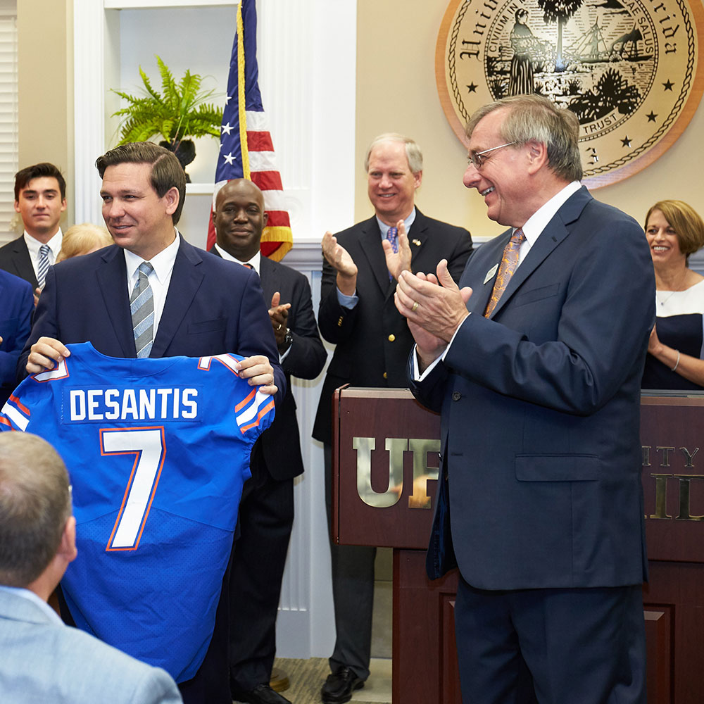 gov. desantis and kent fuchs