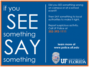 See Something, Say Something Flier