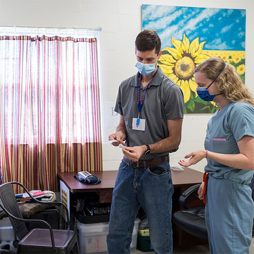 doctors preparing to see patients