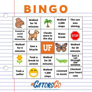 #GatorsGo Bingo