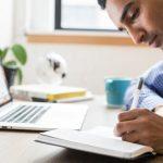 Man writing - Employee Education Program