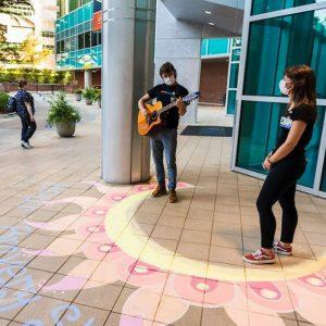 UF Health Serenade and chalk art