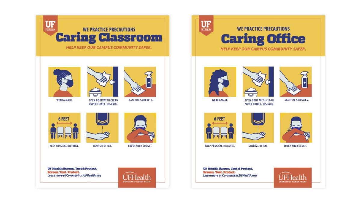 Caring office and classroom signs