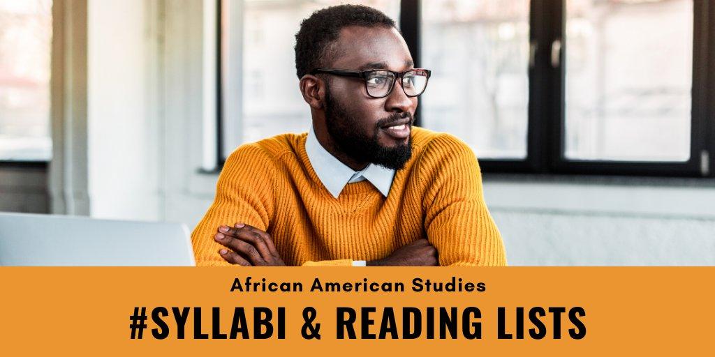 UF Library African America Studies Syllabi & Reading Lists