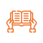 Hands Holding Book Icon
