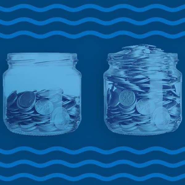 Jars with coins