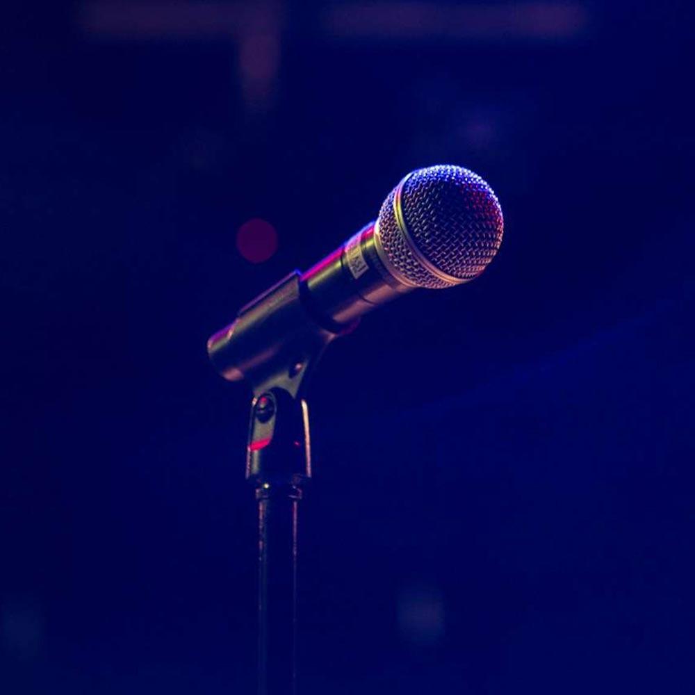 Microphone in dark