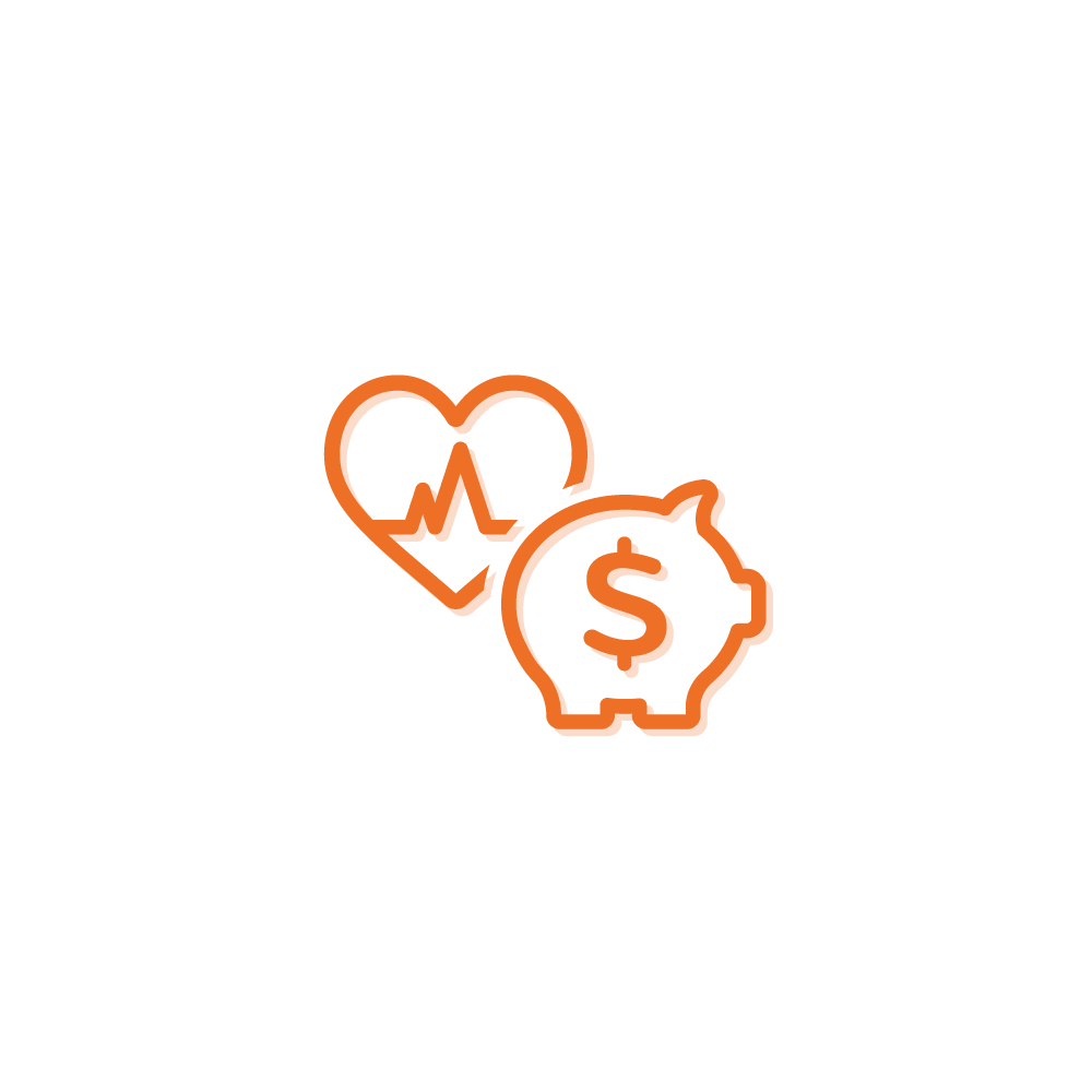 Heart and Savings icons